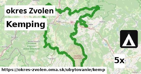Kemping, okres Zvolen