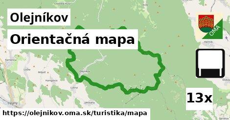 orientačná mapa v Olejníkov