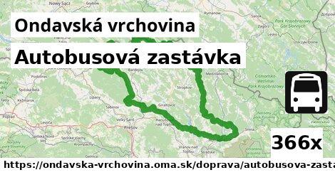 ilustračný obrázok k Autobusová zastávka, Ondavská vrchovina