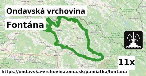 ilustračný obrázok k Fontána, Ondavská vrchovina