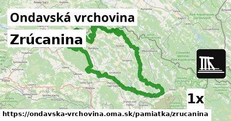 ilustračný obrázok k Zrúcanina, Ondavská vrchovina