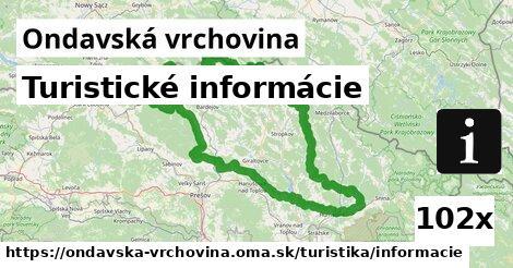 ilustračný obrázok k Turistické informácie, Ondavská vrchovina