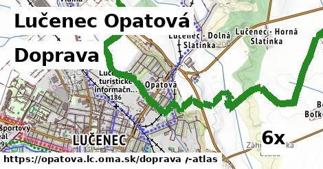 doprava v Lučenec Opatová