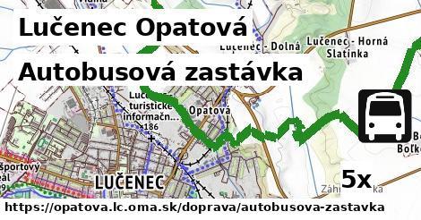 autobusová zastávka v Lučenec Opatová