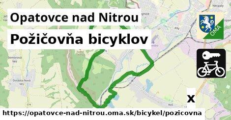 požičovňa bicyklov v Opatovce nad Nitrou