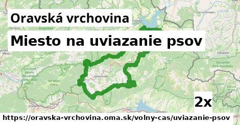 ilustračný obrázok k Miesto na uviazanie psov, Oravská vrchovina