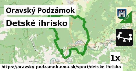 ilustračný obrázok k Detské ihrisko, Oravský Podzámok