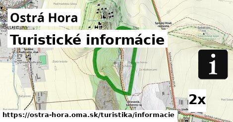 ilustračný obrázok k Turistické informácie, Ostrá Hora