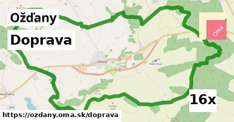 doprava v Ožďany