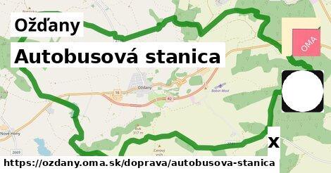 autobusová stanica v Ožďany
