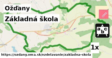 základná škola v Ožďany