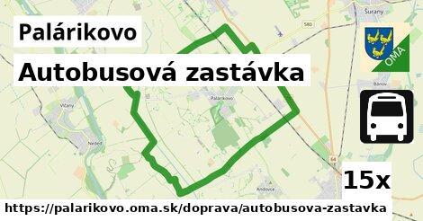 autobusová zastávka v Palárikovo