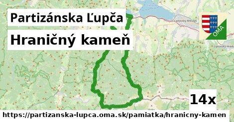 hraničný kameň v Partizánska Ľupča