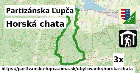 horská chata v Partizánska Ľupča
