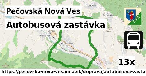 autobusová zastávka v Pečovská Nová Ves
