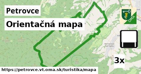 ilustračný obrázok k Orientačná mapa, Petrovce, okres VT