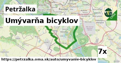 umývarňa bicyklov v Petržalka