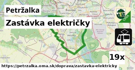 zastávka električky v Petržalka