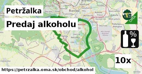 predaj alkoholu v Petržalka