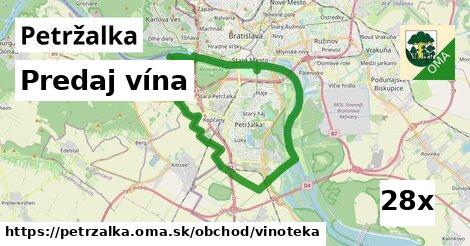 predaj vína v Petržalka