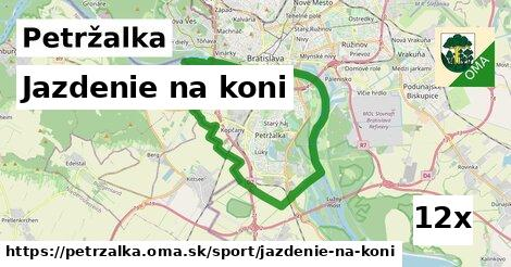 jazdenie na koni v Petržalka