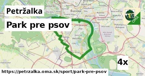 park pre psov v Petržalka