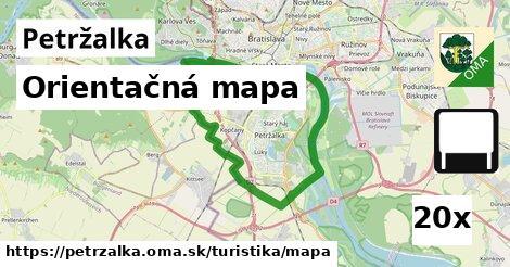 orientačná mapa v Petržalka