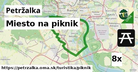 miesto na piknik v Petržalka
