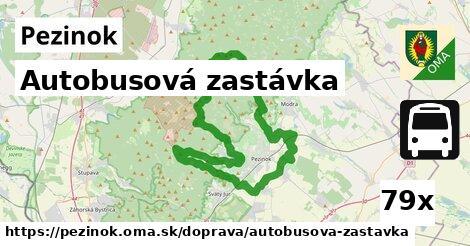 autobusová zastávka v Pezinok