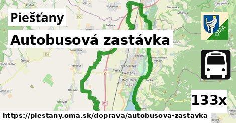 autobusová zastávka v Piešťany