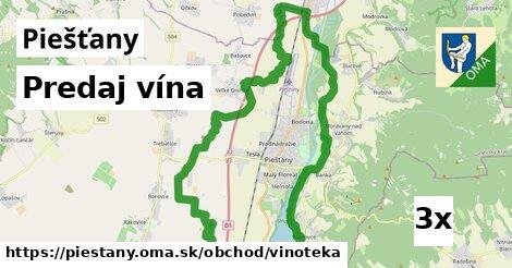 predaj vína v Piešťany