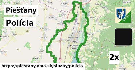 polícia v Piešťany