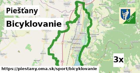 bicyklovanie v Piešťany