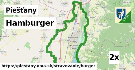 hamburger v Piešťany