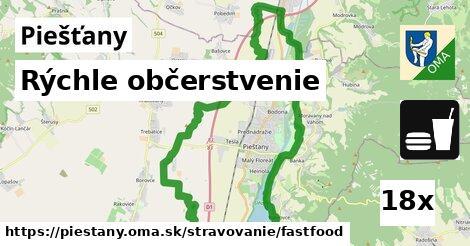 rýchle občerstvenie v Piešťany