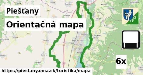 orientačná mapa v Piešťany