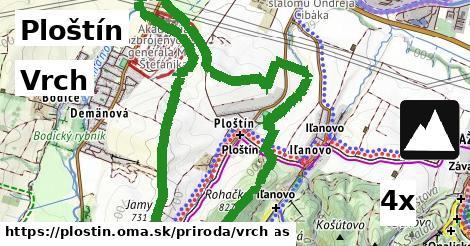 vrch v Ploštín