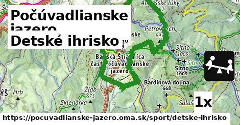detské ihrisko v Počúvadlianske jazero