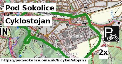 cyklostojan v Pod Sokolice