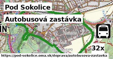 autobusová zastávka v Pod Sokolice