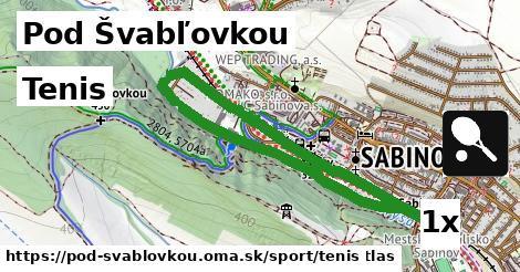 tenis v Pod Švabľovkou
