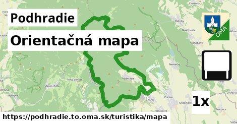 orientačná mapa v Podhradie, okres TO