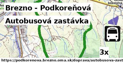 autobusová zastávka v Brezno - Podkoreňová