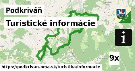turistické informácie v Podkriváň