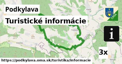ilustračný obrázok k Turistické informácie, Podkylava