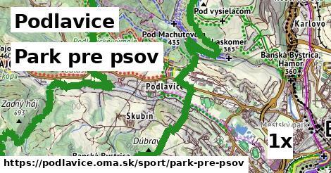 park pre psov v Podlavice