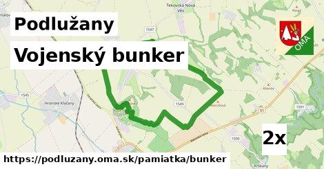 vojenský bunker v Podlužany