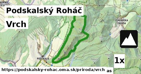 vrch v Podskalský Roháč