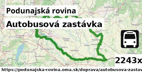 ilustračný obrázok k Autobusová zastávka, Podunajská rovina