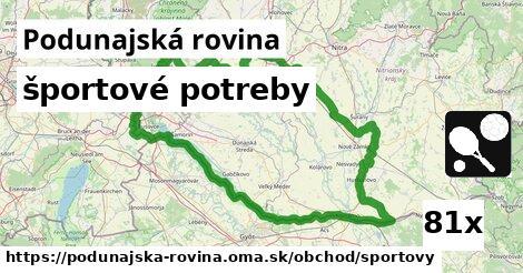 ilustračný obrázok k športové potreby, Podunajská rovina